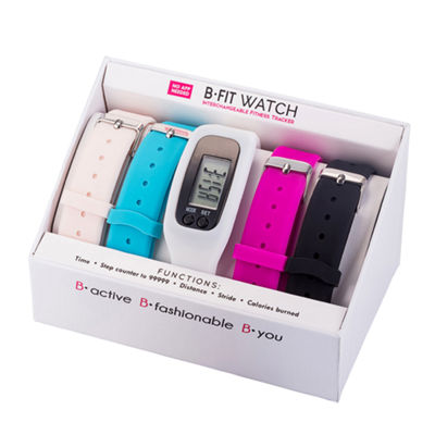 B-fit Women's Activity Tracker & 5pc. Interchangeable Band Set-Ba2201bk607-078