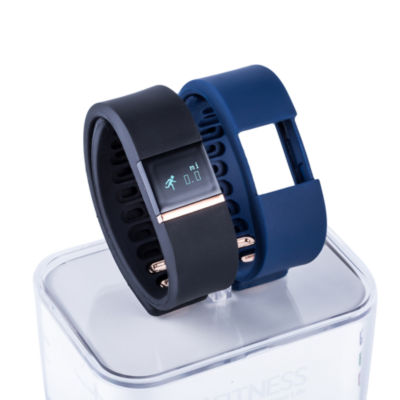 Ifitness Ifitness Activity Tracker Rose/Black And Navy Interchangeable Band Unisex Multicolor Smart Watch-Ift2434bk668-259