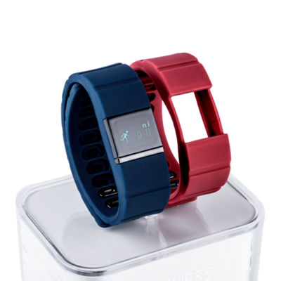 Ifitness Activity Smart Watch with Interchangeable Band - Black/Navy & Red