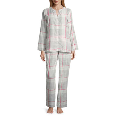 Liz Claiborne 2-pc. Plaid Pant Pajama Set