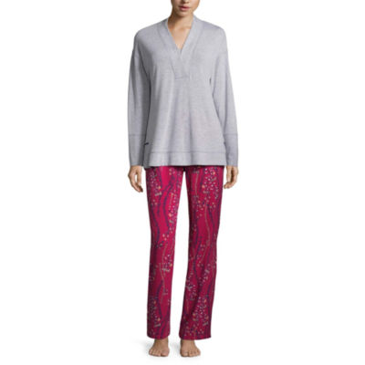 Liz Claiborne 2-pc. Floral Pant Pajama Set-Petites