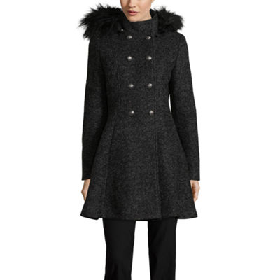 Liz Claiborne Midweight Hooded Peacoat