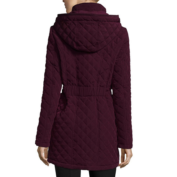 St Johns Bay Hooded Quilted Jacket Jcpenney