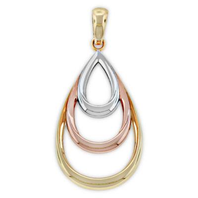 Womens 14K Gold Wing Pendant