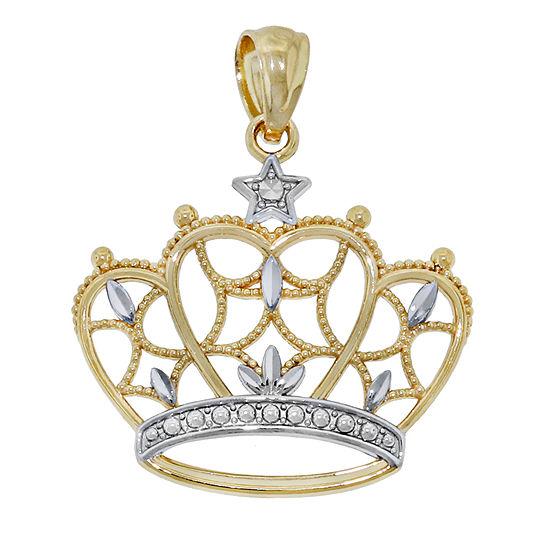 Womens 14K Gold Pear Pendant
