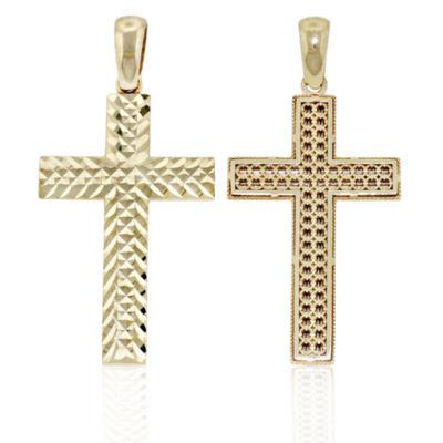 Religious Jewelry Unisex 14K Gold Cross Pendant