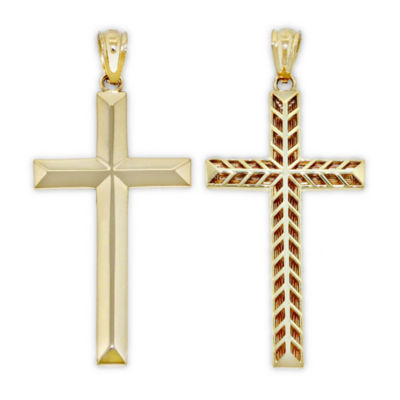 Unisex 14K Gold Cross Pendant