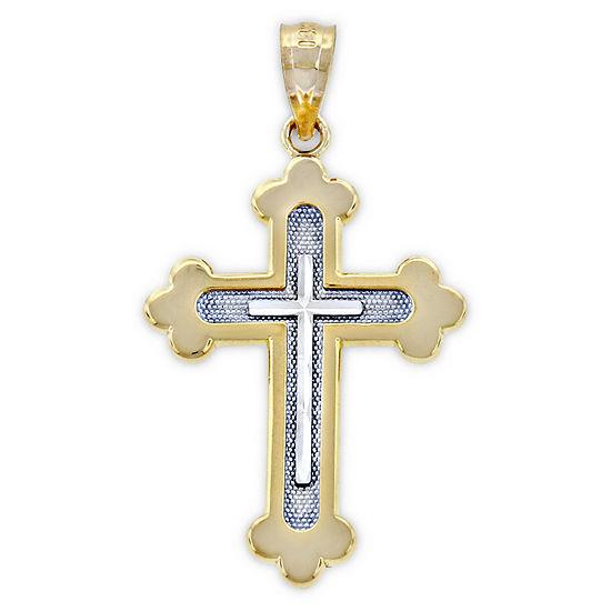 Womens 14K Gold Cross Pendant