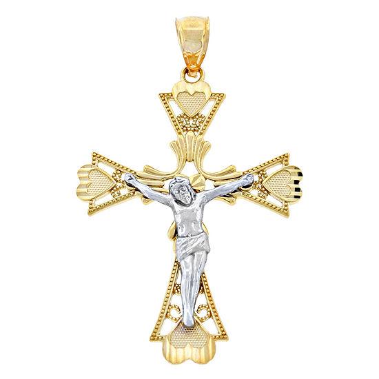 Unisex Adult 14K Gold Cross Pendant
