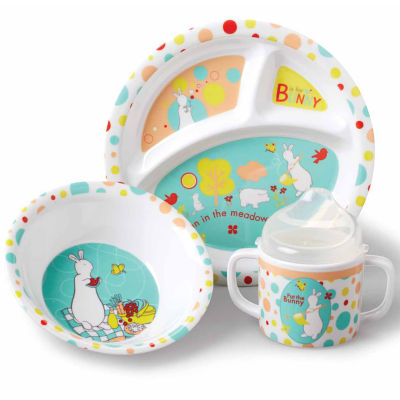 Kids Preferred Pat The Bunny  5-Pc. Melamine Set Interactive Toy - Unisex