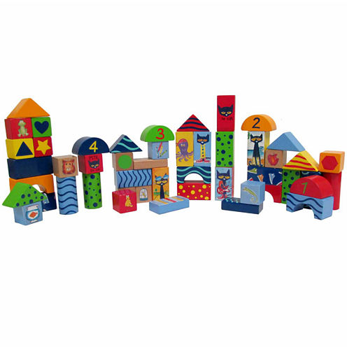 Kids Preferred Pete The Cat Wood Stacking Block Set 50-Pc. Set Interactive Toy - Unisex