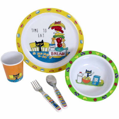 Kids Preferred Pete The Cat Melamine 5pc Set Interactive Toy - Unisex