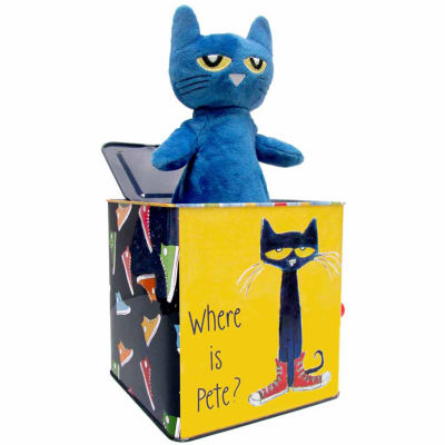 Kids Preferred Pete The Cat Jack In The Box Interactive Toy - Unisex