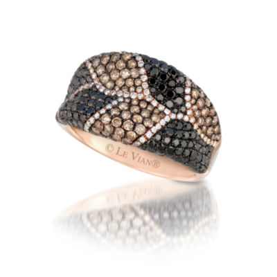 Grand Sample Sale™ by Le Vian® 2 1/4 CT. T.W Vanilla Diamonds®, Chocolate Diamonds® & Blackberry Diamonds® in 14k Strawberry Gold® Exotics® Ring