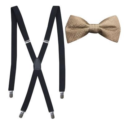 JF J.Ferrar Grid Bow Tie Set