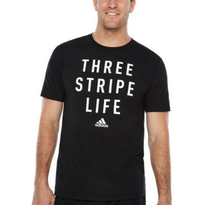 adidas Three Stripe Graphic Tee
