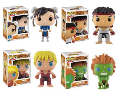 Funko Games: POP! Street Fighter Collectors Set; Chun-Li- Ryu- Ken- Blanka