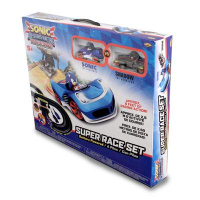 NKOK Sonic The Hedgehog All Stars Racing Transformed RC Slot Car Set Race Set - Sonic & Shadow