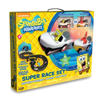 NKOK Spongebob Squarepants RC Slot Car Race Set -Spongebob & Patrick