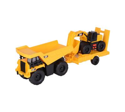 Caterpillar Light & Sound Dump Truck w/ Trailer &Excavator