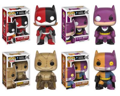 Funko ImPOPster: POP! Heroes Collectors Set; Batgirl/Harley- Batman/Penguin- Batman/Scarecrow- Batman/Two-Face