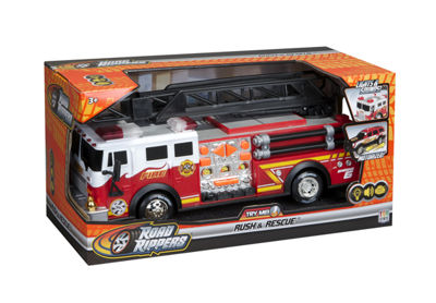 "Road Rippers 14"" Rush & Rescue Hook & Ladder FireTruck"""