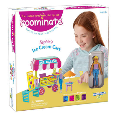 Roominate Sophie's Ice Cream Cart Wired Building Kit (STEM)