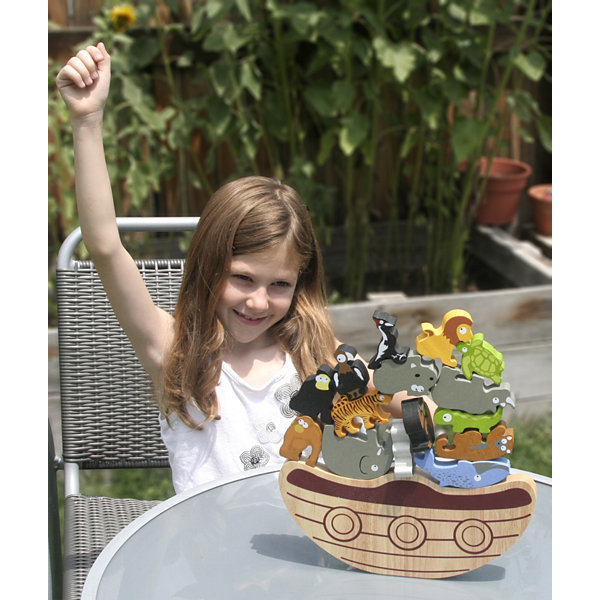 BeginAgain Toys Balance Boat: Endangered Animals Game and Playset