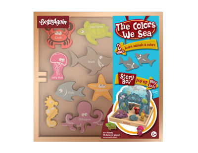 BeginAgain Toys Colors We Sea Story Box Pop Up Playset