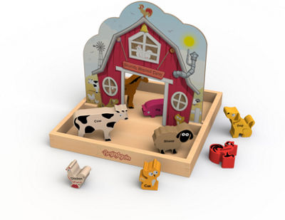 BeginAgain Toys Sounds Around The Farm Story Box Pop Up Playset