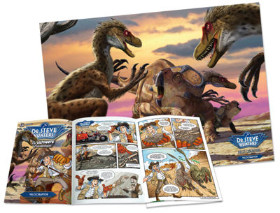 Geoworld Dr. Steve Hunters Paleo Expeditions Kit -Velociraptor