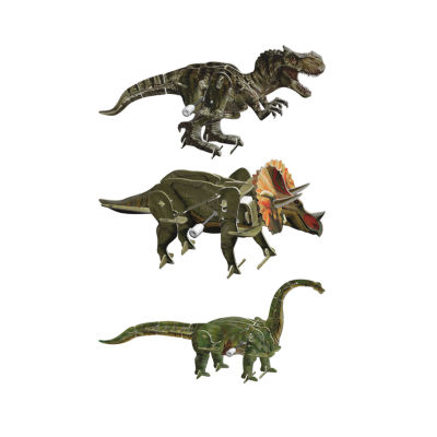Smithsonian 3D Motorized Puzzles - Dinosaur 3 Pack