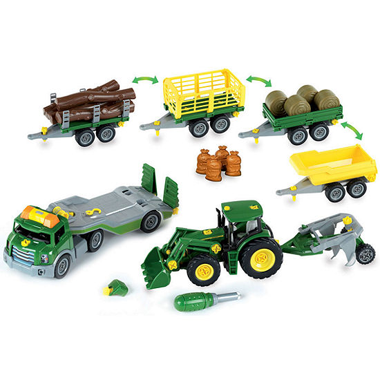 Theo Klein John Deere Mega Take A Part Set  Transporter  Tractor And Much More