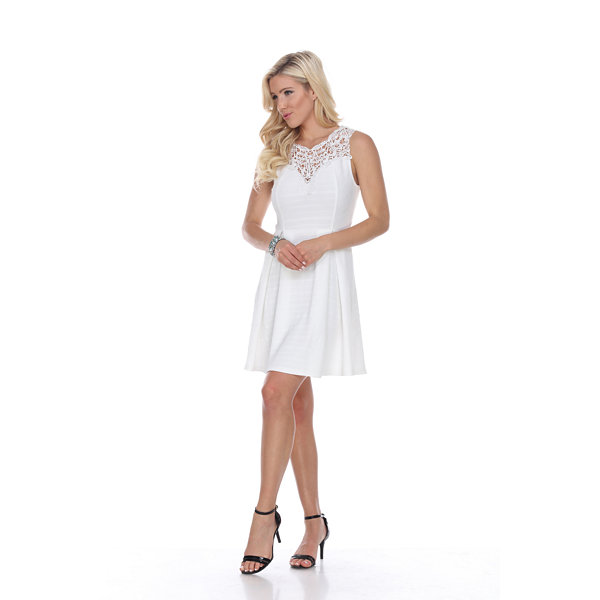 White Mark Taja Fit & Flare Dress