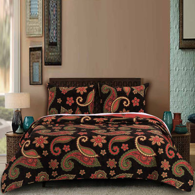 Greenland Home Fashions Midnight Paisley Quilt Set