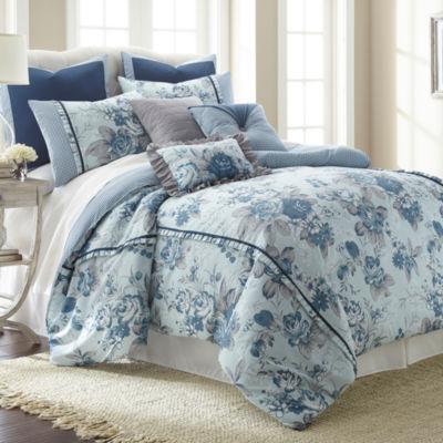 Pacific Coast Textiles Floral Farmhouse 8-pc. Comforter Set