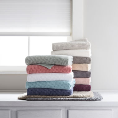 jcpenney.com | JCPenney Home™ Quick Dri Textured Solid Bath Towel Program and Quick Dri Ribbed Bath Rug Program