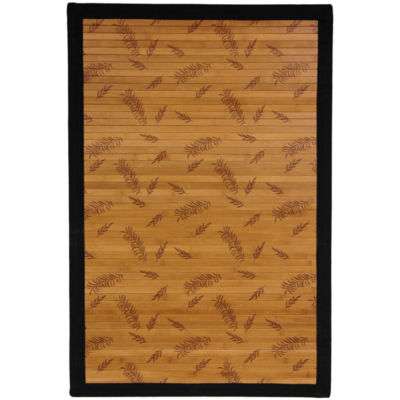 Oriental Furniture Little Leaf Bamboo Rectangular Rugs