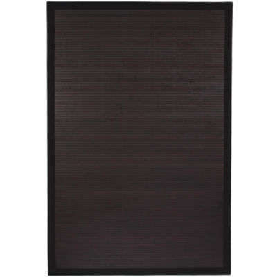 Oriental Furniture Mocha Bamboo Rectangular Rugs