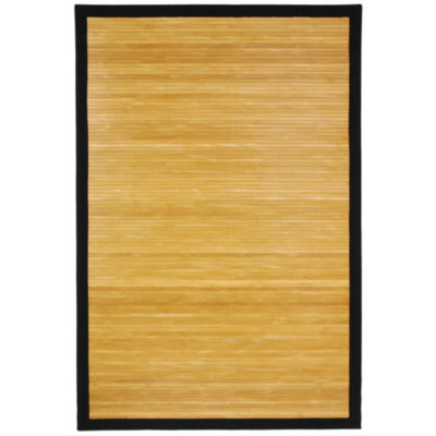 Oriental Furniture Natural Bamboo Rectangular Rugs