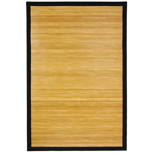 Oriental Furniture Natural Bamboo Rectangular Rugs