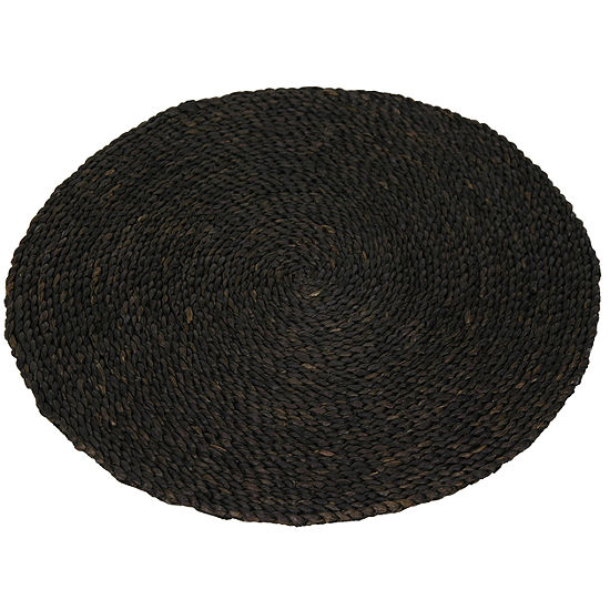 Oriental Furniture Woven Maize Round Rugs