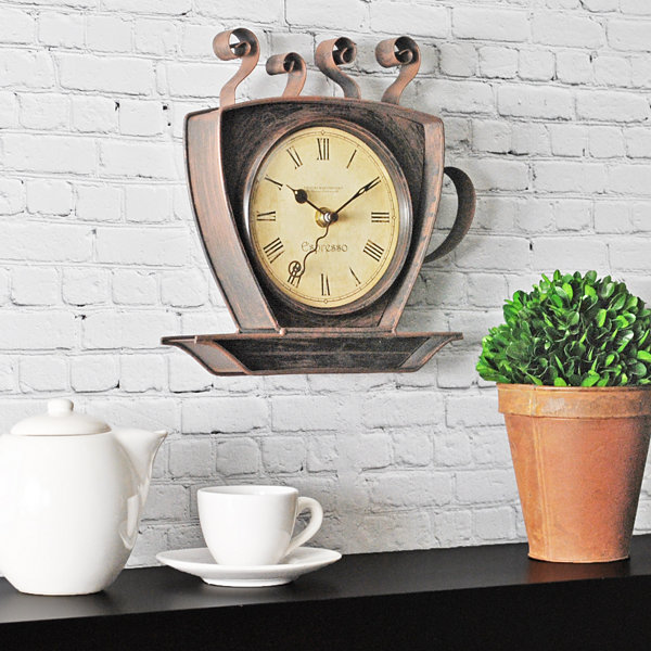 FirsTime® Coffee Cup Wall Clock