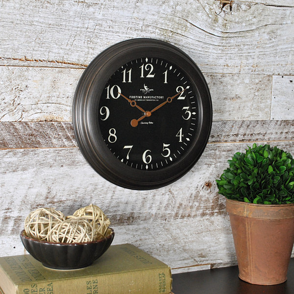 FirsTime® Black Onyx Wall Clock
