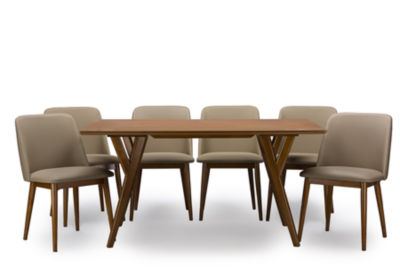 Baxton Studio Lavin 7-pc. Dining Set