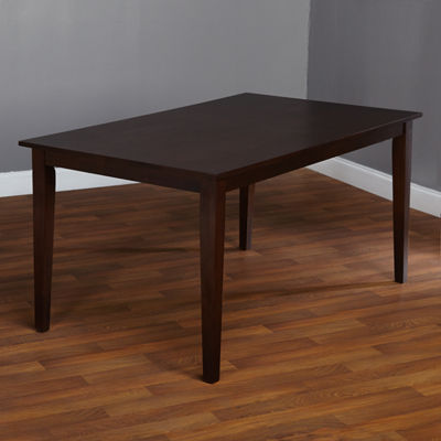 Large Wood-Top Dining Table