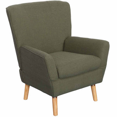 Demi Mid-Century Linen Fabric Chair