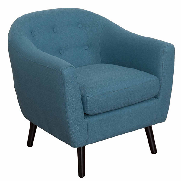 Oliver Mid-Century Linen Fabric Chair