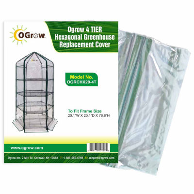4 Tier Hexagonal Greenhouse Replacement Cover