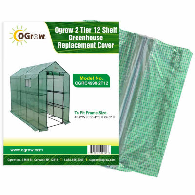 2 Tier 12 Shelf Greenhouse Pe Replacement Cover